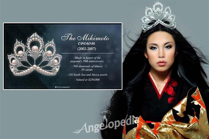 O02QGAZBAYMikimoto - Miss Universe Crown Evolution through the years