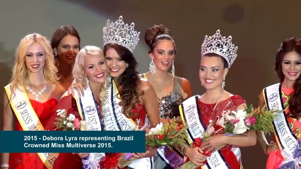 Debora Lyra representing Brazil crowned Miss Multiverse 2015 1024x574 - Miss Universe Crown Evolution through the years