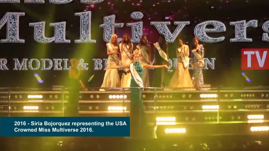 Siria Bojorquez representing the USA crowned Miss Multiverse 2016 1024x574 - Miss Universe Crown Evolution through the years